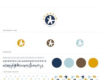 Pre-Made Branding Kit /  Branding Package / Modern Logo / Branding /  Business Card  / Minimal Branding  / Pattern & Type