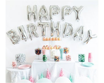 Happy Birthday Balloons Alphabet Letters foil Balloons 16 Inch Party Decoration Supplies