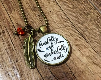 """Psalm 139:14 """"Fearfully and Wonderfully Made"""" Pendant Necklace"""