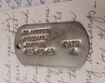 M Flannery Military Dog Tag