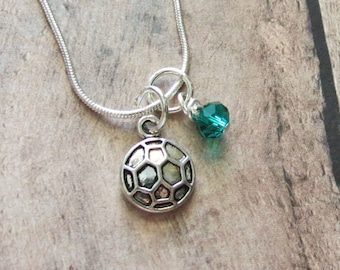 Soccer Necklace, Soccer Team Gift, Soccer Charm Necklace, Party Favors, Soccer Jewelry, Soccer Birthday, Soccer Team, Soccer Mom, Coach
