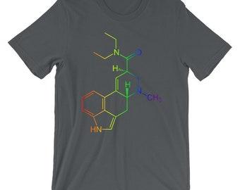Rainbow LSD Molecule T-Shirt