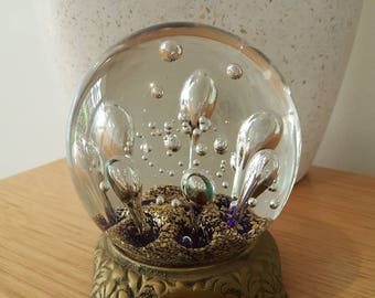 Large Vintage Bubble Paperweight