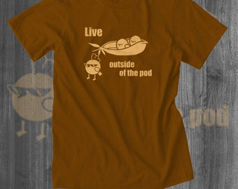 Outside the Pod Tshirt Local Farm Farm food Tshirt Funny Vegetable Shirt Foodie T shirt gifts for him gifts for her sales organic custom