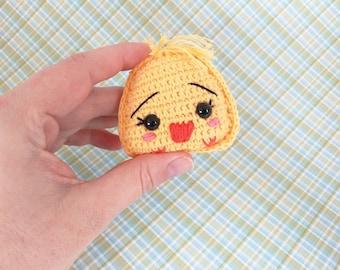 Crochet keychain chick/chicken Crochet Keychain
