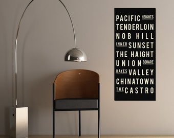 San Francisco Canvas Art - Wall Hanging - San Francisco Art Poster - Gift for Newlyweds - San Francisco Print - San Francisco California Art