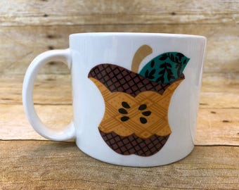 """Vintage """"A"""" is for Apple Tabletops Unlimited 1980's Mug Cup Coffee Tea 1980's"""