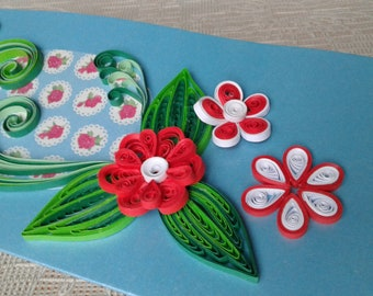 Quilling card Greeting card Quilled card Quilling art Handmade card