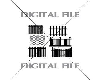 Clip art fence | Etsy