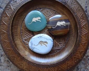 COUGAR Gemstone Animal Spirit Totem for Spiritual Jewelry or Crafts