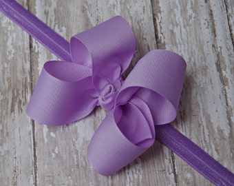 Boutique Lavender Headband Lavender Big Bow Headband Lavender Baby Headband Toddler Headband Large Bow Headband New Baby Gift