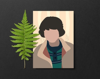 Finn Wolfhard Poster // Mike Stranger Things Poster // Print Mike Wheeler Wall Art // Minimalist Gift // TV Wall Print