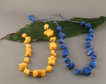 """Agate Sets - """"Agate Azzurra"""" and """"Mellow Yellow"""""""