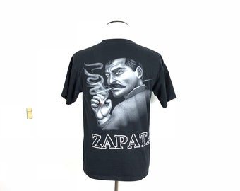 90's vintage emiliano zapata print 100% cotton t-shirt size L