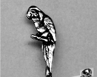 PARROT TIE TACK  Sterling Silver Free Shipping