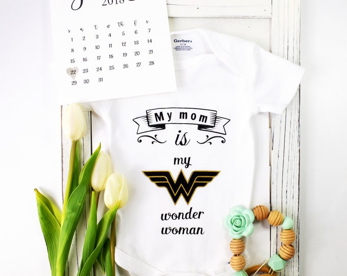 Featured listing image: My mom is my wonder woman Onesie