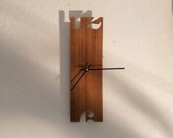 Minimalist Walnut Wall Clock