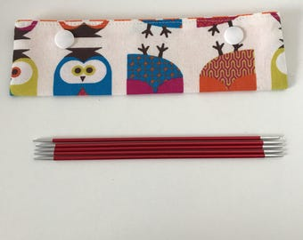 Owl Knitting Needle Cosy, DPN Needle Minder, DPN Needle Minder, Circular Needle Minder, Circular Needle Cosy, DPN holder
