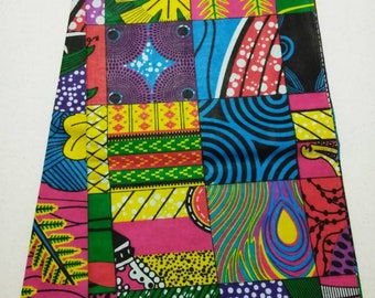 Patchwork Style Wax  Print African Fabric 6 yards, Ankara print fabric/ Fabrics for African clothing /Ankara patchwork