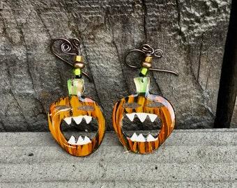 screaming pumpkins earrings 04 - 1552