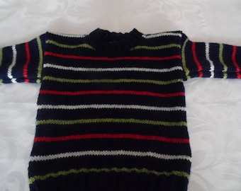 Navy Pinstripe sweater size 3 years