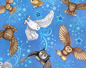 New - Spellbound Owls - Dan Morris - Quilting Treasures - 1 yard - More Available - BTY