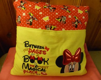 Cute Mouse Reading Buddy Pillow 18 x 18 inchesPILLOW CASE ONLY