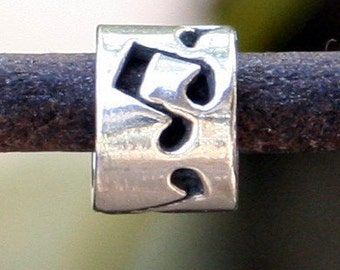 Music Bead Sterling silver Music Notes Slide /32027s