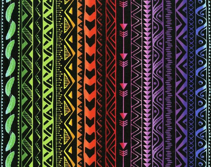 Pow Wow Wow by RJR - Stripe Bright Black - Cotton Woven Fabric