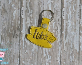 Luke's Diner Snap Tab Keychain