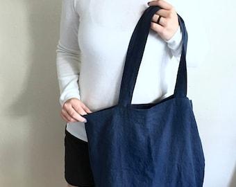 Linen Tote   Shopper Bag   Linen Tote Bag   Eco-friendly   Gifts for Women   Gift for Mom   Handmade   Natural