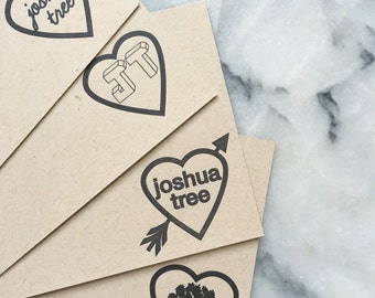 I Heart Joshua Tree Note Cards, Set of 8 Flat Cards with Envelopes
