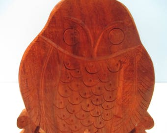 HANDCARVED WOOD BOOKENDS, Sliding Hand Carved Bookends, Owl Bookends, Wood  Owls, Carved