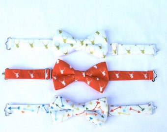 Boys Formal Wear Bow Tie, Toddler Bow Tie, Deer Bow Tie, Ring Bearer Outfit, Family Photo Outfit, Beach Wedding Outfit, Page Boy Outfit