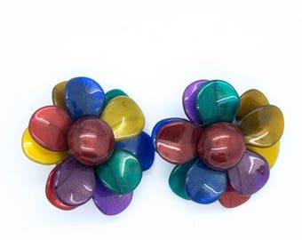 1920's Funky Flower Earrings