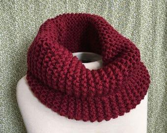 SUPERNOVA RED Cowl / 100% Wool