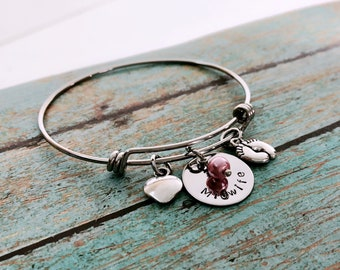 Midwife - Charm - Bracelet - Gift - Adjustable - Hand Stamped