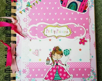 Handmade Notebook.. Pretty Princess.. Perfect for the little princess in your home