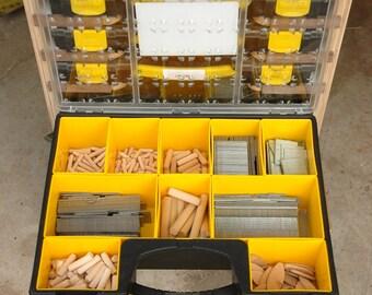 Mobile Modular Small Parts Rack PDF Plan - Inexpensive Adam Savage Style tool box/parts Rack