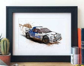 Ford Rs200 Rally Car Illustration