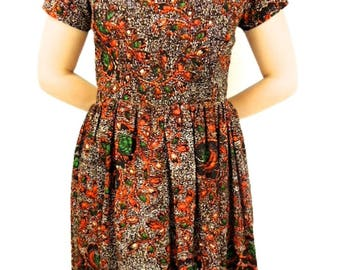 African fit and flare dress, African dresses, African print dress, African dresses for women, Ankara flare dress, African ankara dress