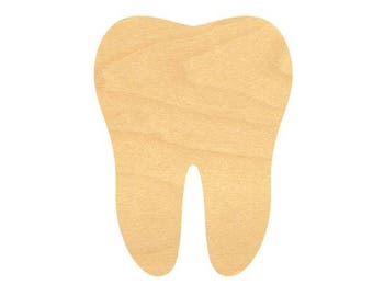 Tooth Sign Wood Cutouts - Large Sizes up to 35 Inches - Sign or for Projects or Other Use