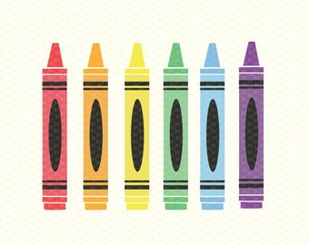 Crayons Crayon SVG, DXF, PNG, Eps Cut Files, Back to School Svg, School svg, Teacher Svg, School cut files, Silhouette & Cricut Svg files