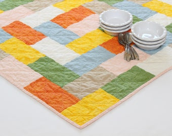 Quilted Table Topper, Kitchen Decor, Modern Farmhouse Decor