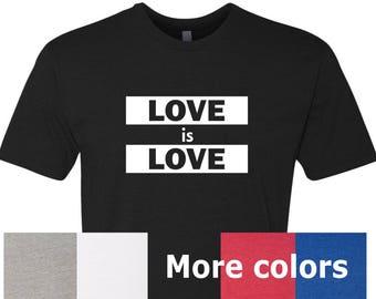 LOVE is LOVE Tshirt, Love is Love Equality Shirt, LBGTQIA Shirt, Lesbian Shirt, Gay Shirt, Pride Shirt, Equality Shirt, Equal Sign Shirt