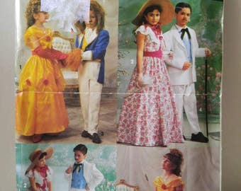 Beauty and The Beast costume pattern / simplicity 0643 / southern belle / Gone With The Wind / uncut / 1992 / Disney / Size A