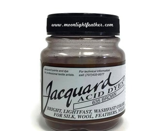 Feather, silk, wool, cashmere and Yarn Dyes - BROWN Jacquard Acid Dyes - 1/2 Oz : 3741