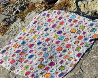 Scrumptious Bubbles Crochet Afghan/Blanket  - PDF CROCHET PATTERN