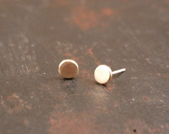 14k gold studs, recycled gold earrings, 14k gold earrings, gold studs, gold stud earrings, everyday earrings, pink gold studs