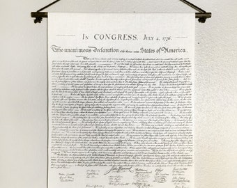Declaration of Independence Wall Hanging - Muslin Tapestry Replica